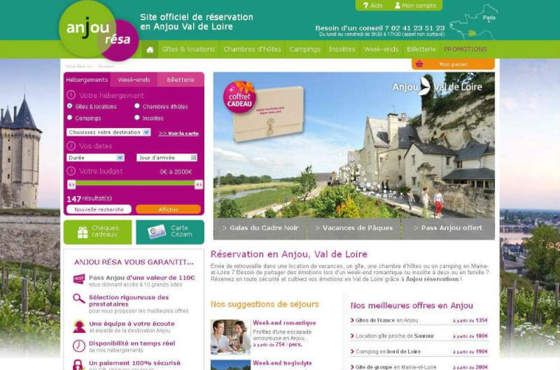 Anjou-resa: plate-forme de location de vacances en Val de Loire