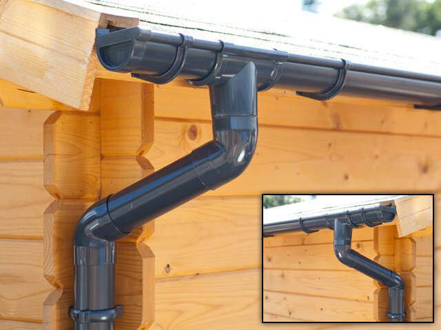 Gouttière d'abri de jardin pour la récupération d'eau