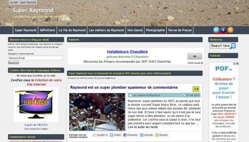 Capture d\'écran du site Super Raymond